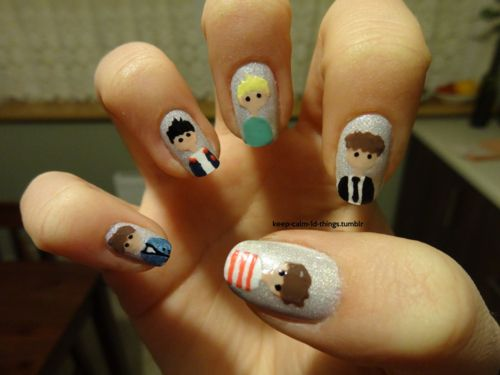 ONE DIRECTION <3 if you love one direction then this is the perfect manicure for you!: