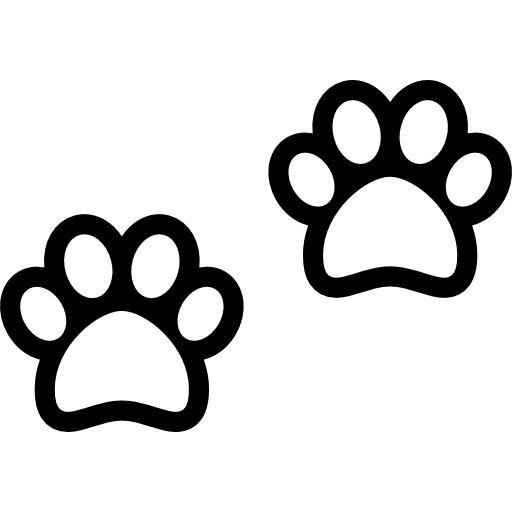 Two Dog Pawprints Free Vector Icons Designed By Freepik Dog Paw Drawing Dog Icon Dog Paws