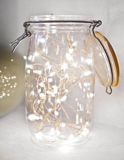 lichterkette im glas basteln pinterest weihnachten einrichten wohnen und led. Black Bedroom Furniture Sets. Home Design Ideas