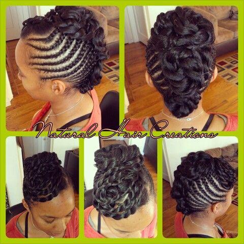 Peachy Cornrow Updo And Hair On Pinterest Hairstyles For Men Maxibearus
