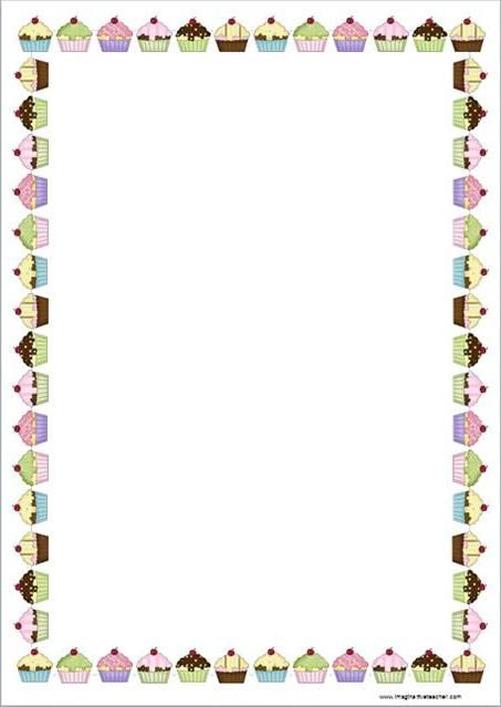 Cupcake Page Border page borders , cupcake and student-centered ...