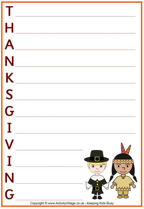 Printable thanksgiving acrostic poems template write for Poetry templates for kids