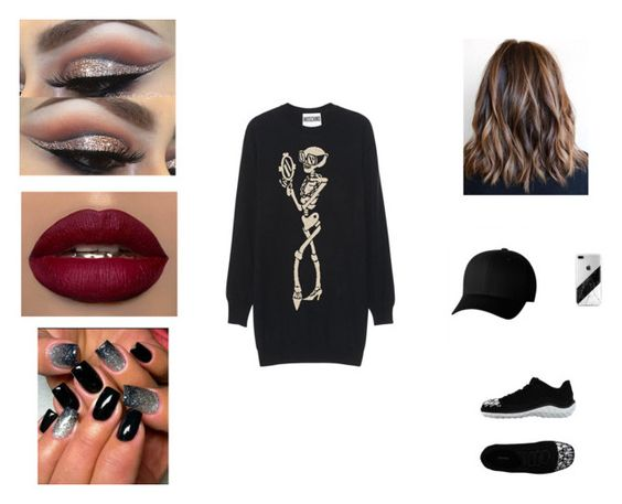 """""""street style"""" by pauline02 ❤ liked on Polyvore featuring Moschino, Miu Miu and Flexfit"""