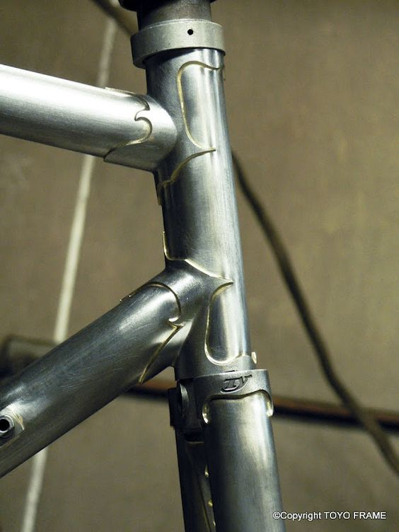 Handcrafted steel road bike by Toyo Frame.