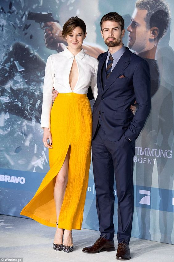 They've got chemistry: Both Theo and Shailene, who play Divergents Four and Tris, have a s...