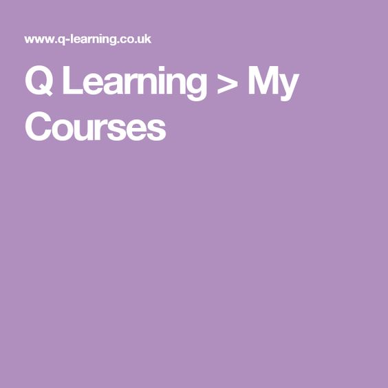 Q Learning > My Courses