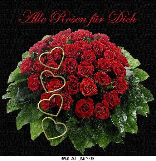 Img Rote Rosen Mit Herzen Die 20 Besten Ideen Geburtstagsbilder Fur Frauen Blumen Holiday Decor Christmas Wreaths Holiday