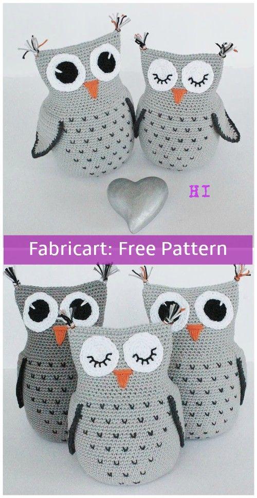 20+ DIY Free Crochet Owl Patterns | 969x500