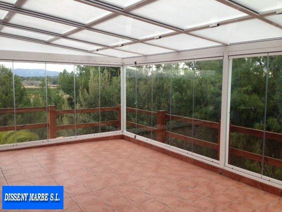 Cerramiento terraza formado por techo movil de aluminio - Cerramientos terrazas aluminio ...