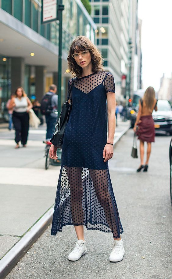 She looks lovely. New York Fashion Week, Spring 2017.