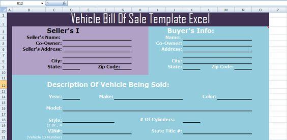 Download Vehicle Bill Of Sale Template Excel u2013 Microsoft Project - vehicle bill of sale template