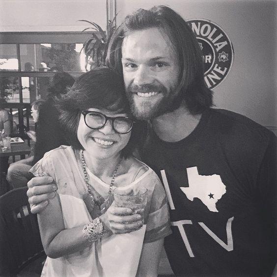 Keiko Agena and Jared Padalecki AKA Lane and Dean. #GilmoreGirlsParty #ATXFestival #GilmoreGirls