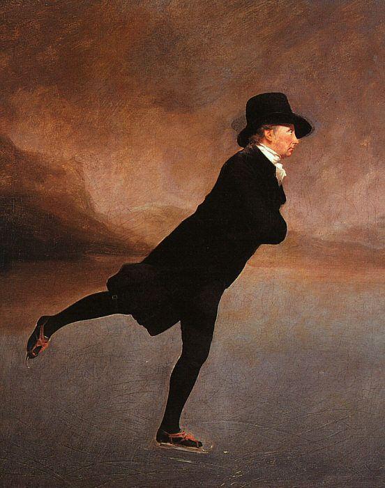 """""""Quando se patina sobre o gelo fino a segurança está na velocidade.""""  Ralph Waldo Emerson - Sobre a prudência  The Reverend Robert Walker Skating on Duddingston Loch -1790 - Raeburn"""