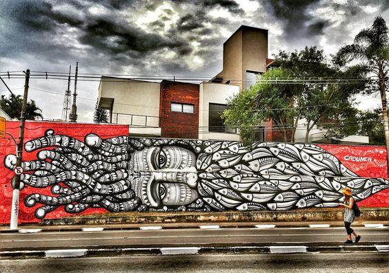 #latinoamericaneando e admirando a obra do grande artista visual @cadumen nas ruas de #SãoPaulo. by latinoamericaneando