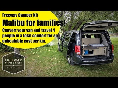 Camper Van Kit Conversion Malibu For Family By Freeway Full Tour Youtube With Images Minivan Camper Conversion Mini Van Camper