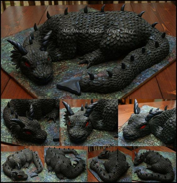 Dragon cake! My son would absolutely go nuts over this cake! I must make this next year!
