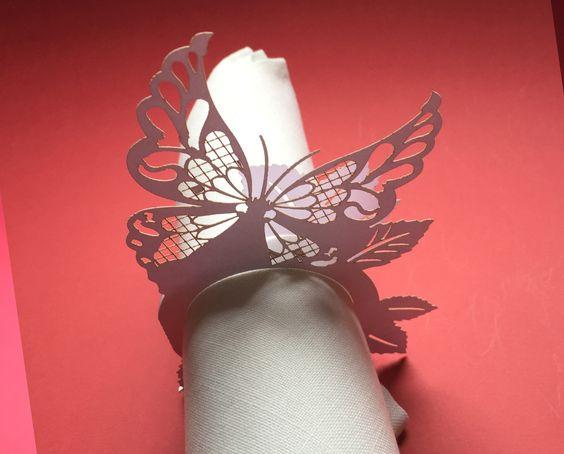 Chiudi tovagliolo farfalla, wedding butterfly