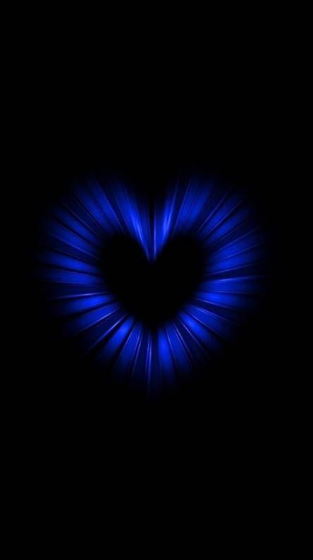 Blue Heart Blue Roses Wallpaper Blue Wallpaper Iphone Wallpaper Iphone Neon Black and blue heart wallpaper