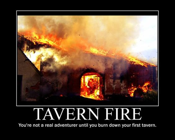 You're not a party until you've blown up a tavern.