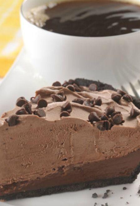 Chocolate Mudslide Frozen Pie