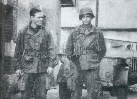 """Best friends Major Richard Winters and Captain Lewis Nixon. 101st Airborne.  """"Band of Brothers"""""""