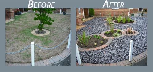Garden design ideas low maintenance into a low maintenance for Low maintenance garden design