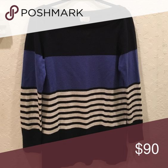 Perfect condition Kate spade Amari stripe sweater Kate spade striped sweater - 100% perfect condition. No signs of wear. kate spade Sweaters Crew & Scoop Necks