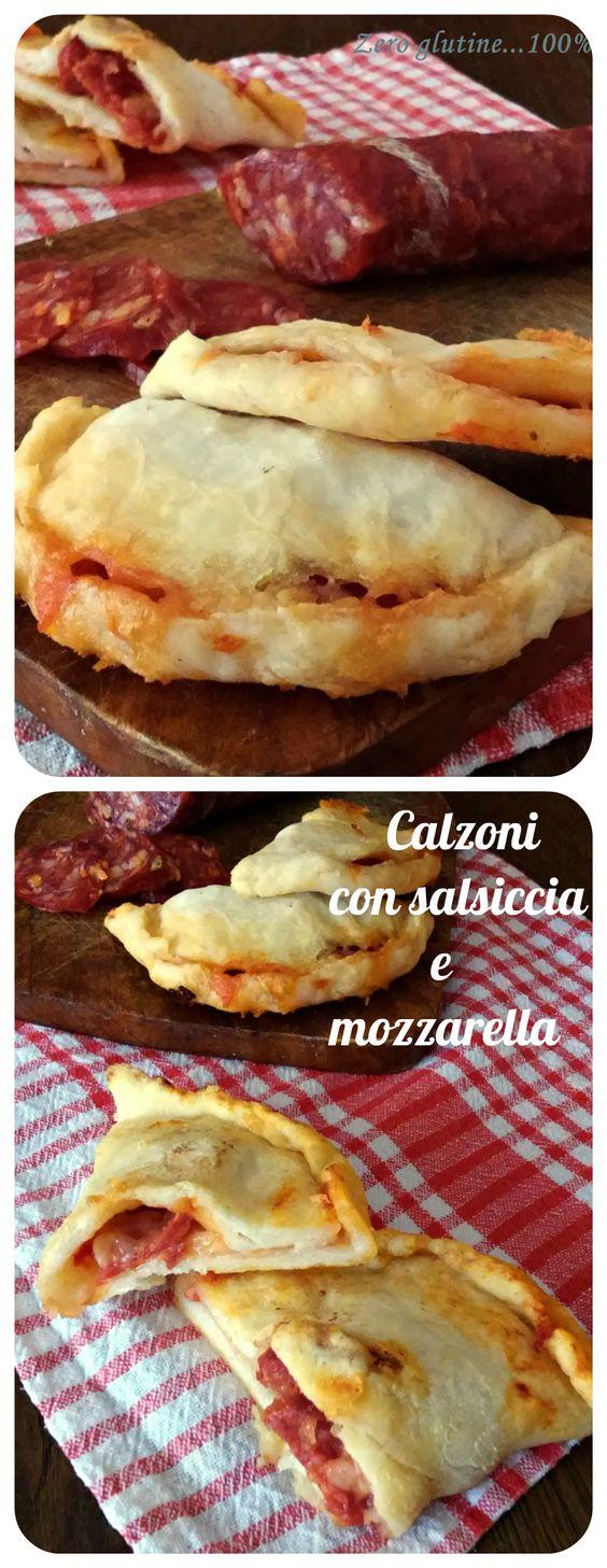 Calzoni ripieni di salsiccia piccante e mozzarella ,senza glutine e cotti al forno.  http://blog.giallozafferano.it/zeroglutine/calzoni-ripieni-di-salsiccia-piccante-e-mozzarella/