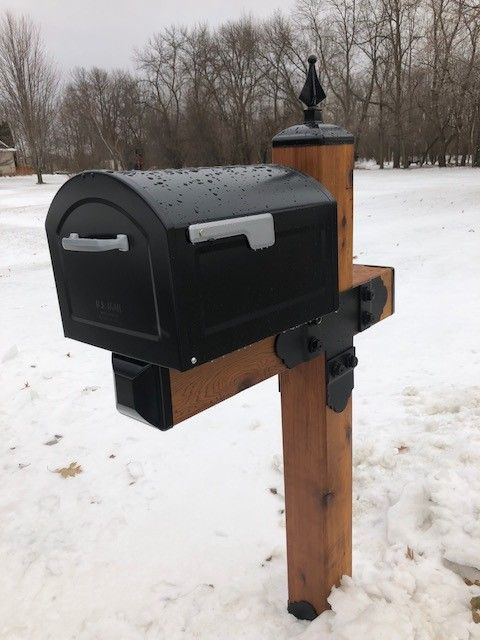 Mailbox Post With 6x6 Post Look At Those Decorative Tops And Post Caps That You Can Get All From Madison Iron And Wood Mailbox Decor Mailbox Post Wood Post