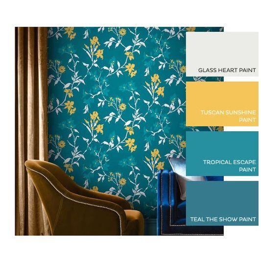 Arthouse Kimora Teal Gold Wallpaper Main Image Teal And Gold Wallpaper Teal Wallpaper Wallpaper