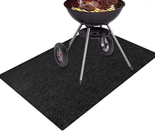 Together Life Gas Grill Splatter Mat Fireproof Heat Resistant Non Slip Floor Protector Bbq Grilling Gear Backyard Floor R In 2020 Gas Grill Hearth Pad Heat Resistant