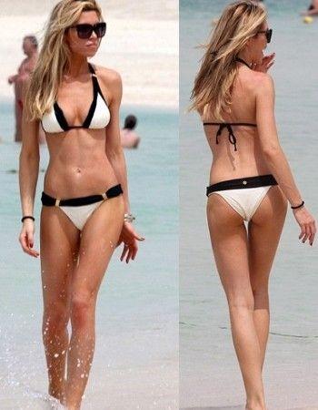 British Model Abbey Crouch Wearing ViX Bikini