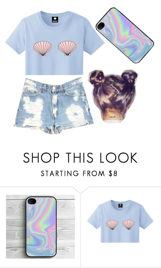 """""""Mermaid Shells"""" by jessstinten ❤ liked on Polyvore featuring Furst of a Kind"""
