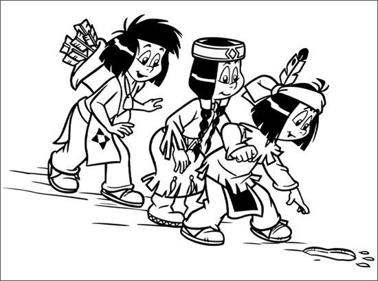 Ausmalbilder Yakari Und Kleiner Donner Malvorlagen Malvorlag