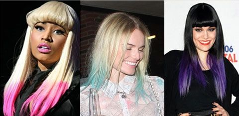 Looking for an easy, non-permanent way to update your hairstyle? Take a cue from celebs like Nicki Minaj, Kate Bosworth, and Jessie J: dip-dye your hair in a bright color! You may not have your own personal hairstylist, but with a little kool aid and some conditioner, you'll be red-carpet ready.   Although it sounds weird, your favorite drink from elementary school makes the perfect temporary hair dye! Simply mix a packet in a bowl with a little water and a lot of conditioner, and stir until…