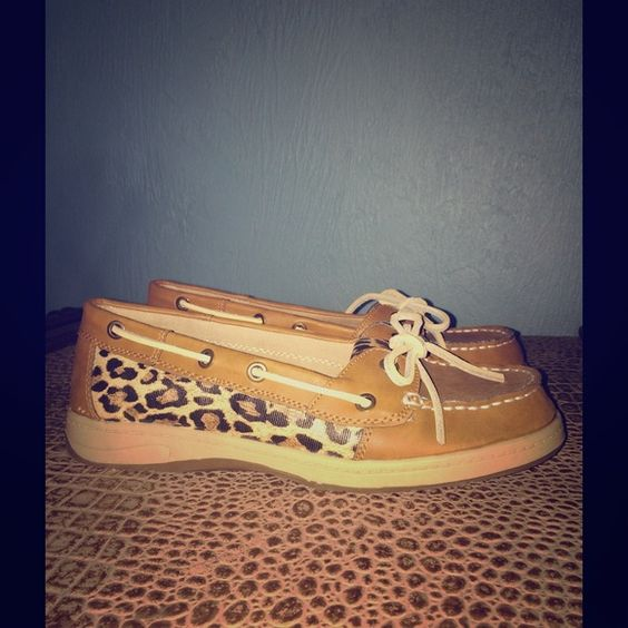 Leather Boat Shoes New! Never Worn! Leather boat shoes. Adorable cheetah print on sides and tongue. Size 8. Croft & Barrow brand. Croft & Barrow Shoes