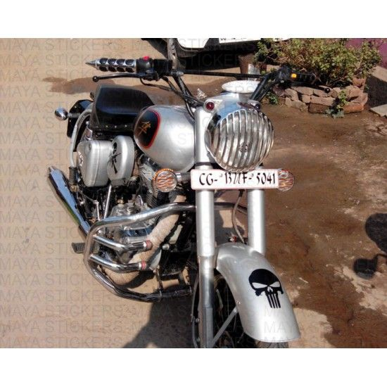 Royal Enfield Classic Silver Stickering Mudguard Royal - Classic motorcycle custom stickers