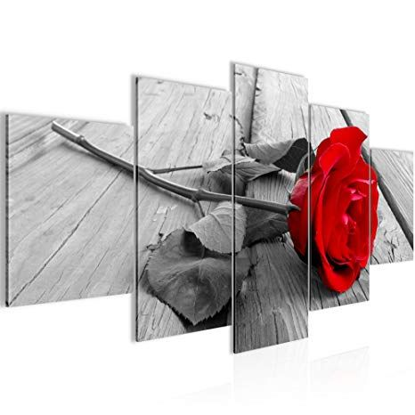 Blume Wandbild Modern Poster oder Leinwand Bild auf Keilrahmen The Rose