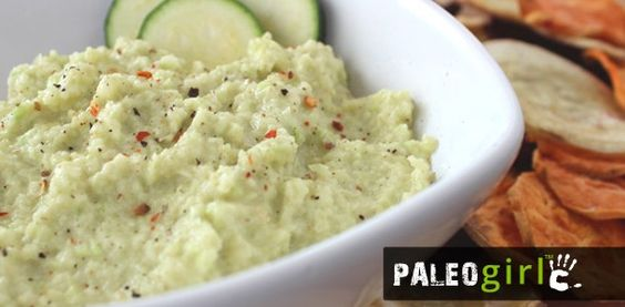 Zucchini Hummus - I miss bean hummus, but not what it does to me. PaleoGirl rocks!