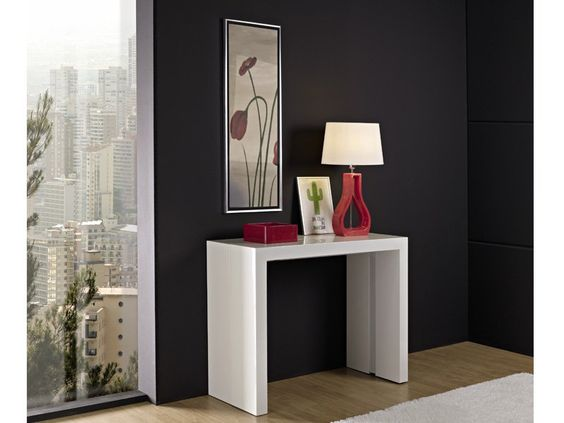 Mesa de comedor extensible consola mahaiak pinterest for Mesas salon plegables diseno
