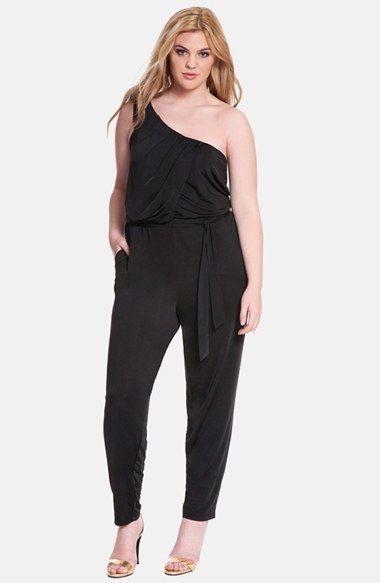 ELOQUII One-Shoulder Jumpsuit (Plus Size) | Plus Size ...