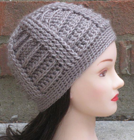 CROCHET HAT PATTERN Instant Download - Bailey Textured Beanie Hat ...