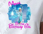Mom of the Birthday Girl Iron On Disney Frozen Theme T-shirt Transfer Printable Digital Download Elsa Anna Olaf party Favour DIY