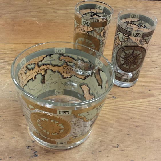 Cera glass co maps double fashioned glasses old world maps cera glass co maps double fashioned glasses old world maps outlined in 22k gold vintage 1985 set of 2 by thistakesmeback on etsy pinterest gumiabroncs Image collections