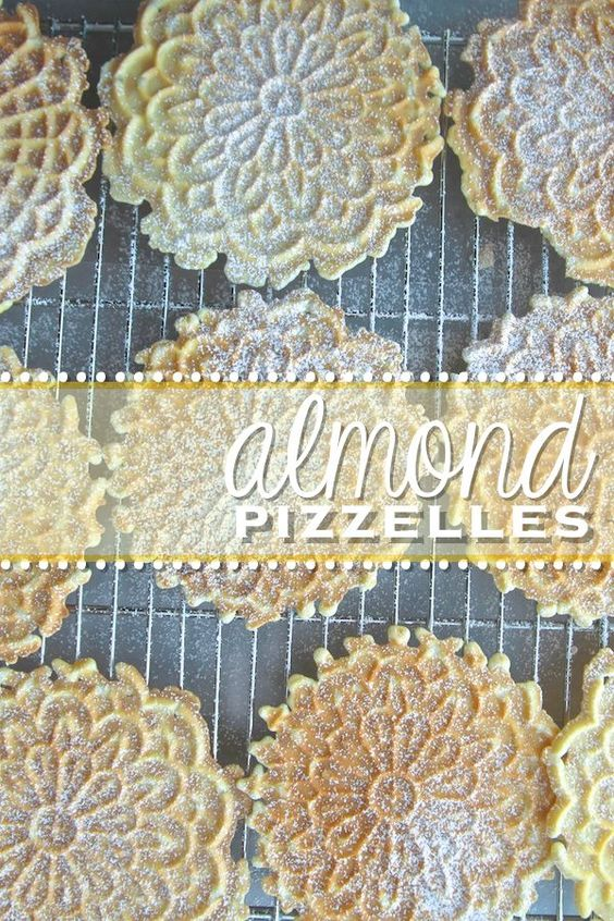 Almond Pizzelles (try with 2 tsp of almond extract instead of 2 tbsp)