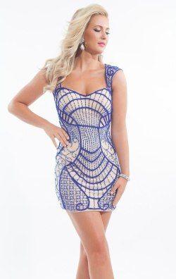 Fitted Mini Dress by Rachel Allan Short 6691
