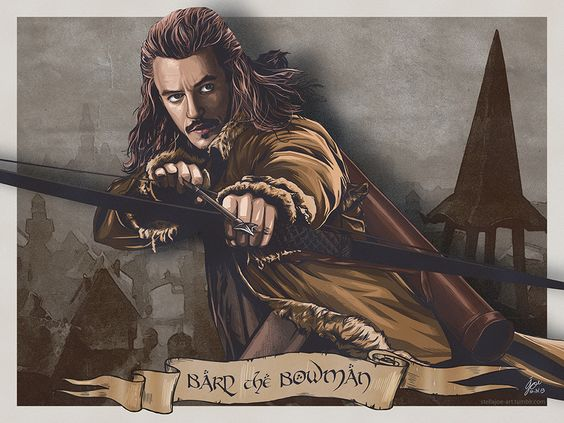 Cool 'The Hobbit: The Battle Of The Five Armies' Artwork Featuring Luke Evans' Bard The Bowman