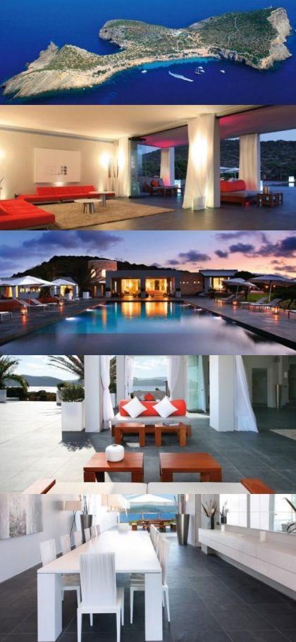 Vacation Rental: Private Tagomago Island In Ibiza, Balearic Islands, Spain. 5 Bedrooms/6 Baths.
