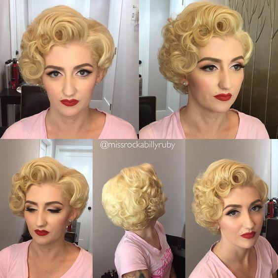 Coiffure Courte Rockabilly Retro Hairstyles Vintage Hairstyles Hair Styles