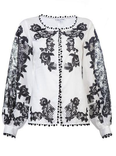 OSCAR DE LA RENTA Blusa Branca.